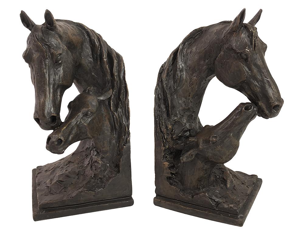 Pferde-Buchstützen-Set