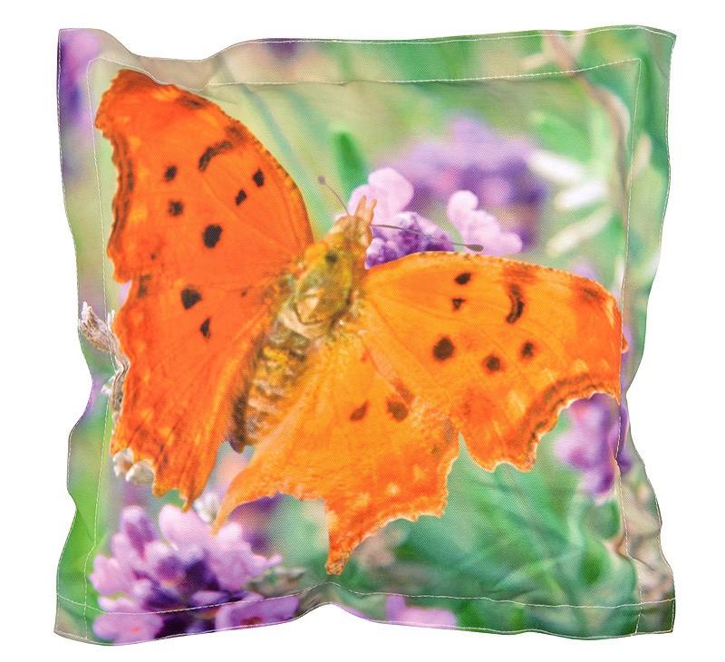 Outdoor Kissen Schmetterling Dekokissen Sitzkissen 42x42cm günstig online kaufen