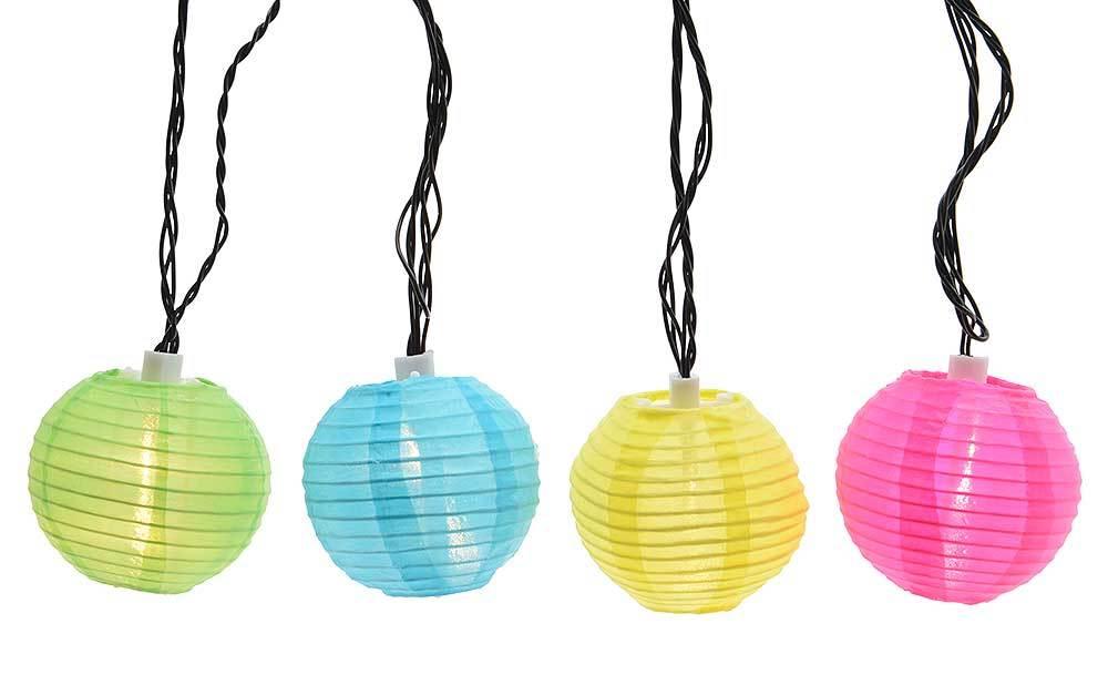 Lampion-Lichterkette für drinnen und draußen