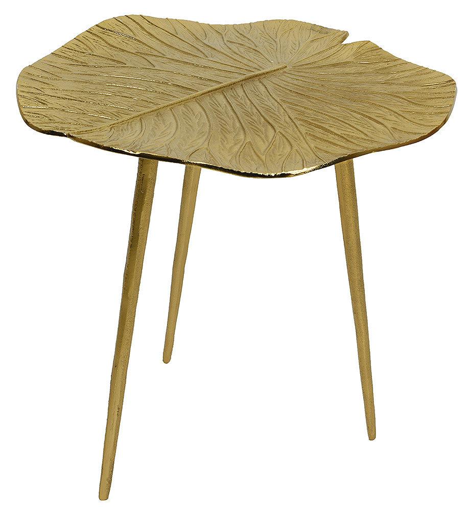 Goldenes Tischchen im tropischen Stil